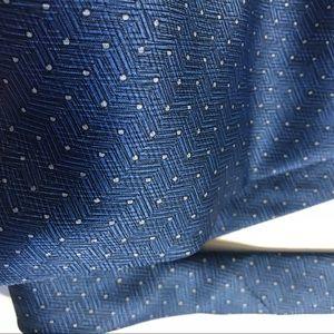 Vintage Accessories - Montagut Paris Blue Polka Dot Tie Classy Wedding!